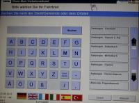 Automat Touchscreen Buchstaben